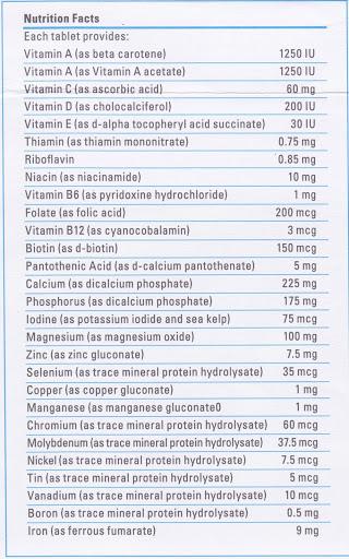Vita_Lea Nutrition supplement facts